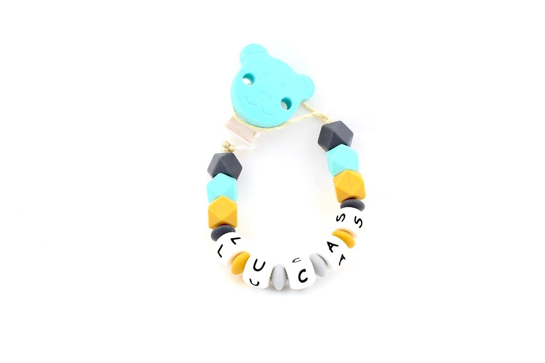 Magenta Kids - Chupetero personalizado con el nombre de tu bebé (Lucas)
