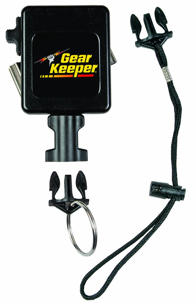 Gear Keeper RT3-7512 Retractable Instrument Tether with Stainless Steel Rotating Belt Clip, 80 lbs Breaking Strength, 12 oz Force, 42'' Extension