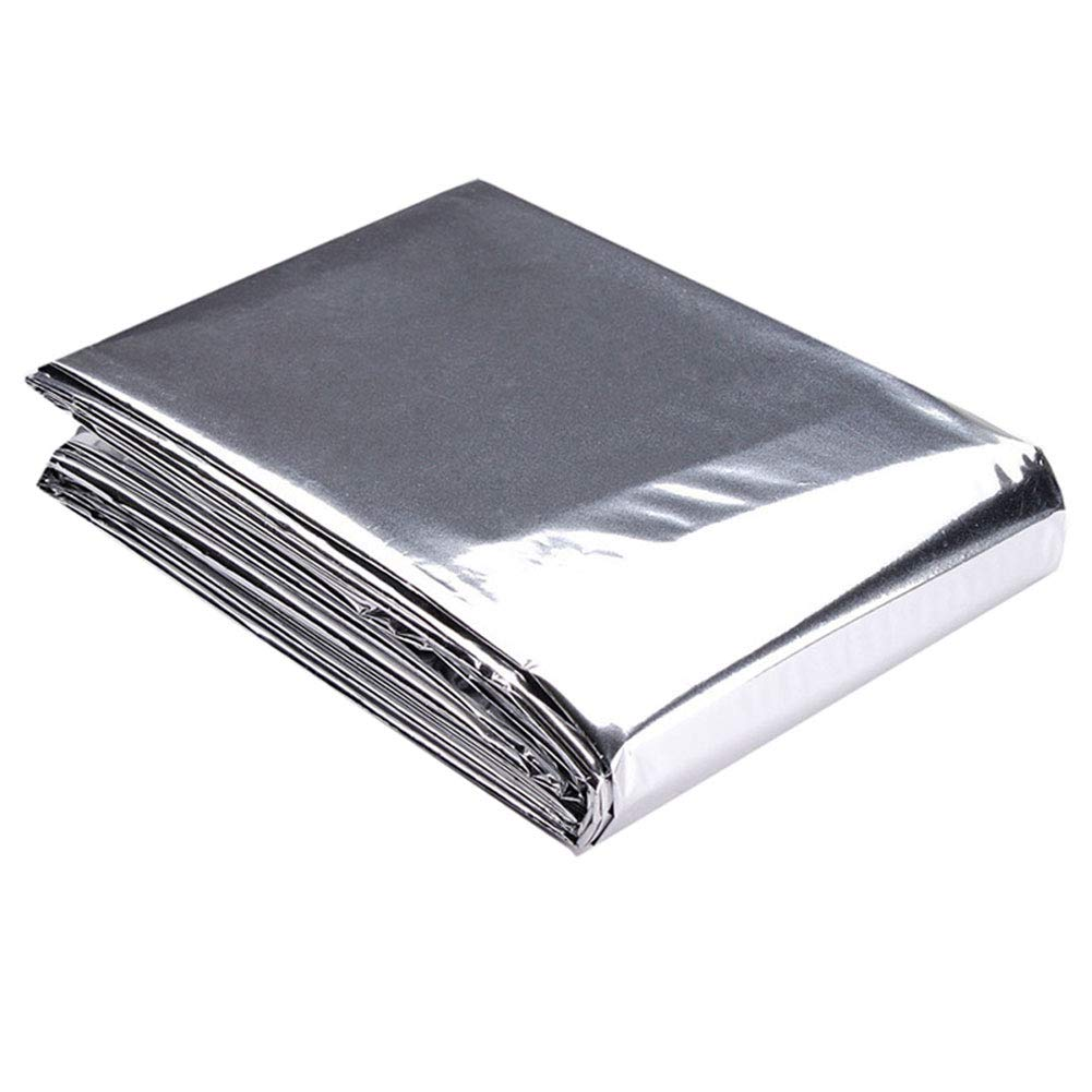 Efanr Silver Reflective Mylar Film, 82 x 47 inch Two-Sided Reflective Covering Foil Sheets for Greenhouse Fruit Trees Increasing Temperature Light