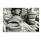 Trademark Fine Art Old Tires Bw by Bob - Best Reviews Guide