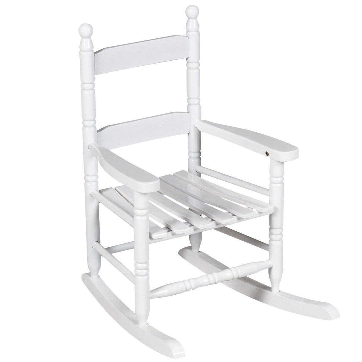 White Classic Wooden Children Rocking Chair - By Choice Products
