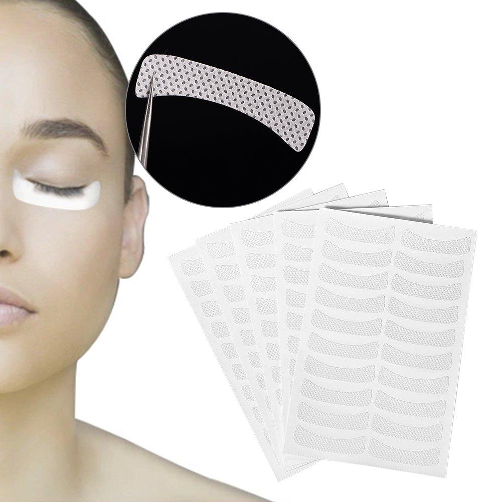 Eye Lash Pads Sticker Soft Non-woven Eyelash Extension Tinting Tape False Eyelash Makeup 100 Pcs