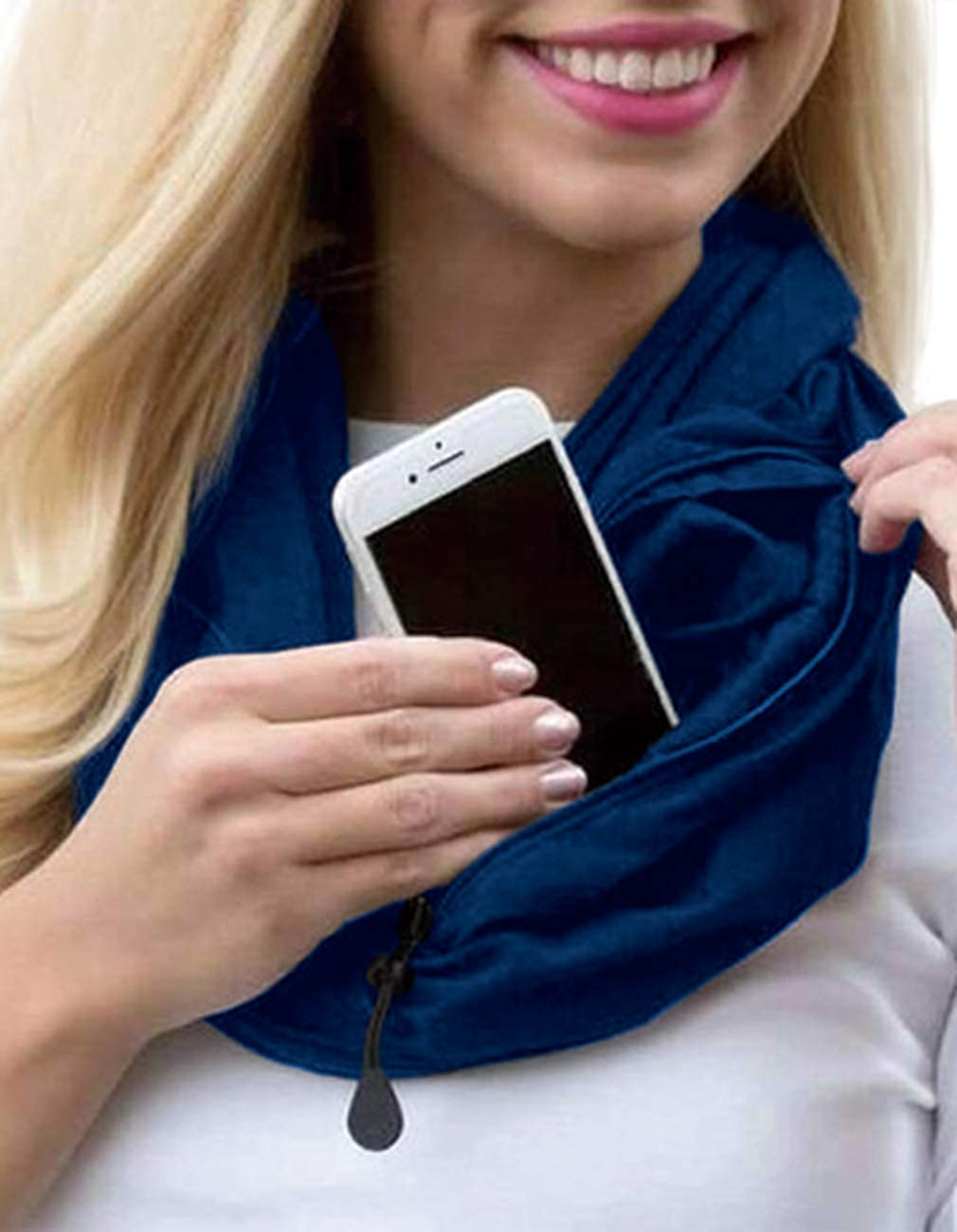 Convertible Infinty Scarf With Pocket Womens Fall Warm Loop Scarf Lightweight Travel Scarf