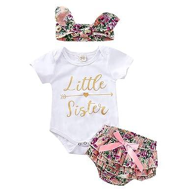 Ropa bebé niña Verano Conjunto de Ropa bebé recién Nacido ...