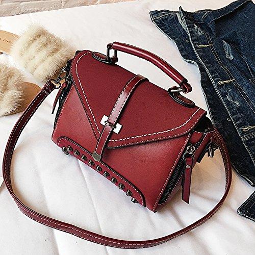 Bolsa Pequeña Bolsa amp;QIUMEI Negro Paquete Bolso Solo Diagonal Rojo Femenina OME q16Tn