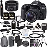 Canon EOS 80D DSLR Camera with 18-55mm Lens + Canon EF 50mm f/1.8 STM Lens + Sony 32GB SDHC Card + Rechargable Li-Ion Battery + Charger + HDMI Cable + Remote + Card ReaderVideo Creator Kit