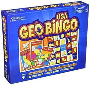 GeoBingo USA Educational Geography Board Game