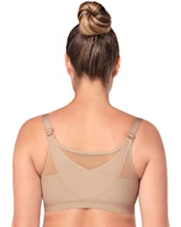 ae47101b8 Leonisa Back Support Posture Corrector Wireless Sports Bra for Women with  Contour Cups