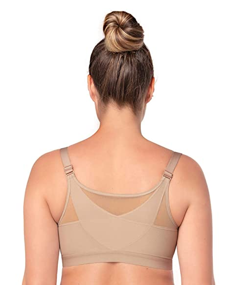409cf2f95d Leonisa Back Support Posture Corrector Wireless Sports Bra for Women with  Contour Cups