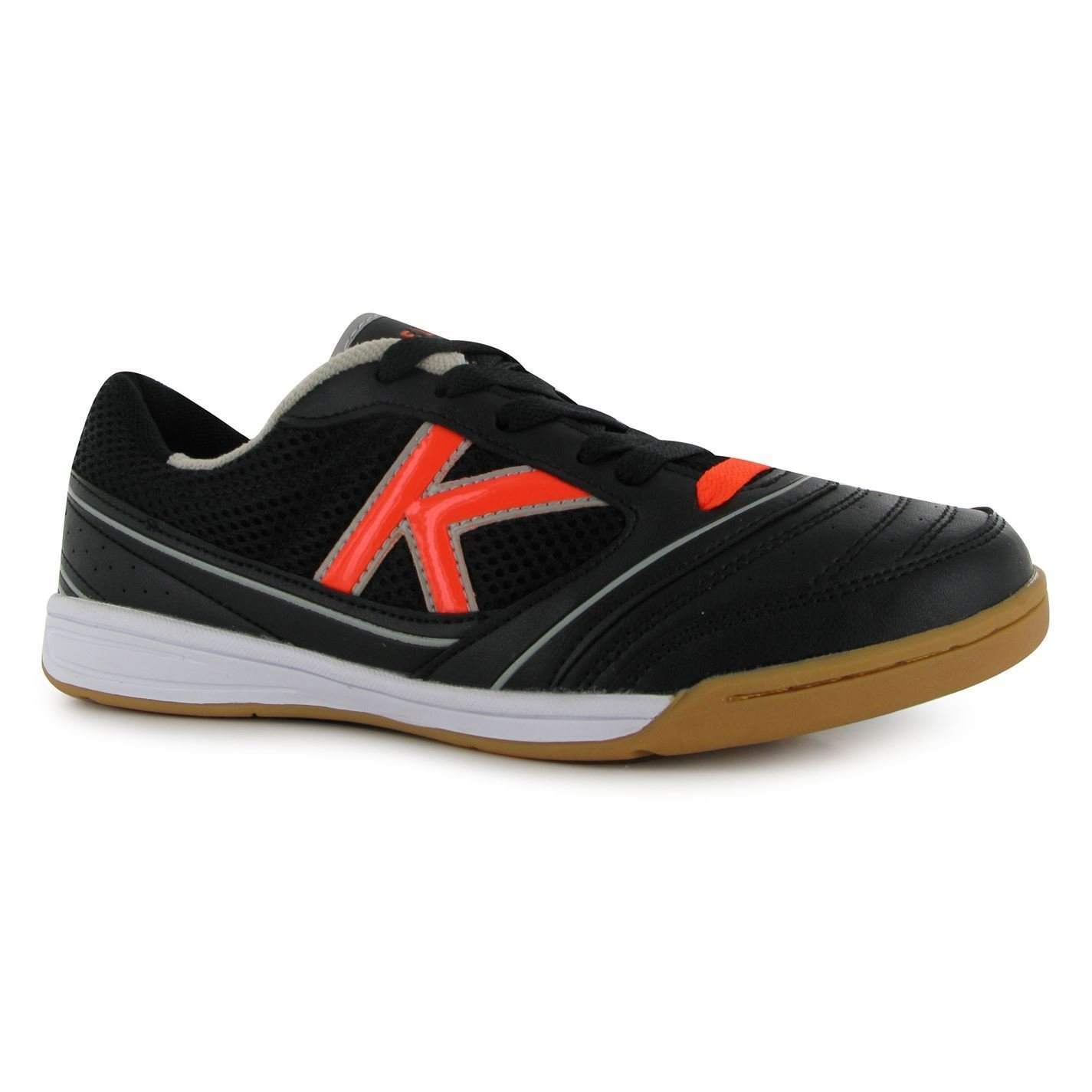 Kelme America Hallenfußball Futsal Trainer Herren Schwarz Orange Fußball Sneakers