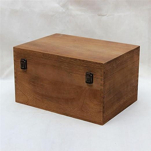 HZZymj-Caja de almacenamiento de madera maciza Paulownia grande ...