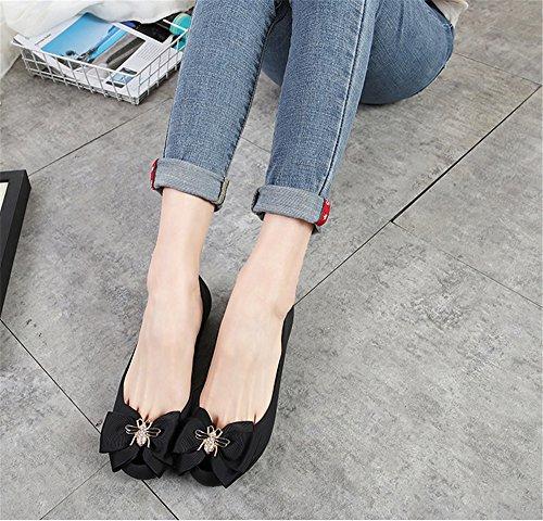 Wheeler Open Black On Sandals Slip Heel Wedge Slipper Platform High Women Sandal Sandal Toe Queena Shoe dZqxwEAO7d