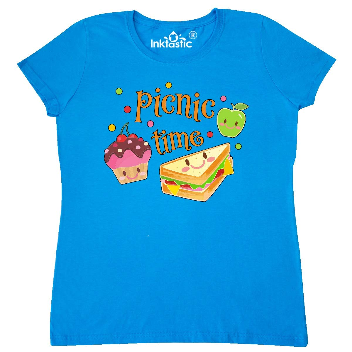 Picnic Time With Cute Apple Sandwich And Cupcake S T Shirt