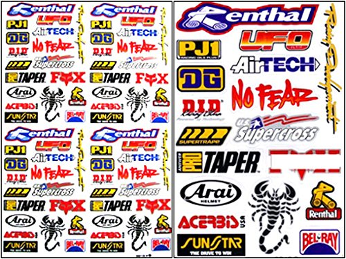 Amazon com 2x rc 15 110 decals nitro gas car trucks boat racing sticker sheets rc 203 everything else