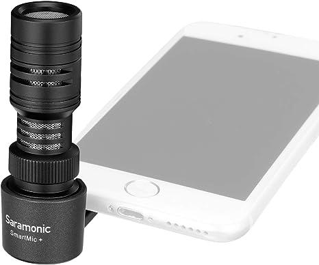 Saramonic SmartMic+ - Micrófono para Smartphone (Ligero, 3,5 mm ...