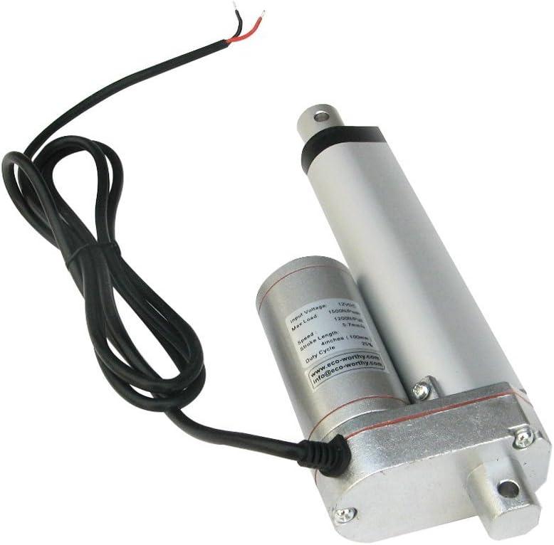 4inch Utilisation Automatique 10,2 cm standard Medical ECO-WORTHY 12V Moteur lin/éaire Actionneur Heavy Duty 330lbs Tracker Multifonction Solaire Pour Electroic