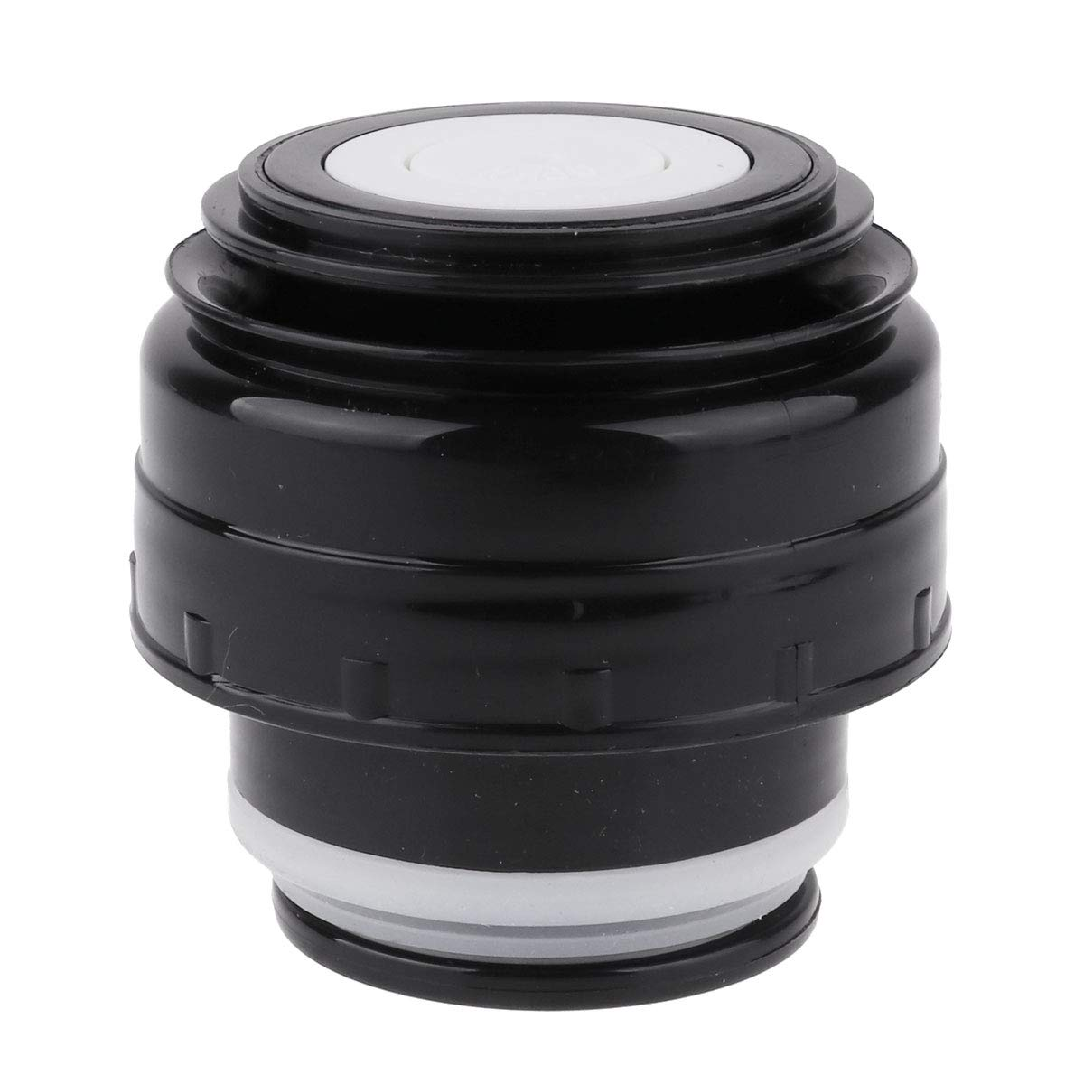 IEFIEL 5.2cm Diameter Thermos Bottle Cup Bullet Flask Covers Vacuum Insulated Travel Mug Stopper Lid Black One Size