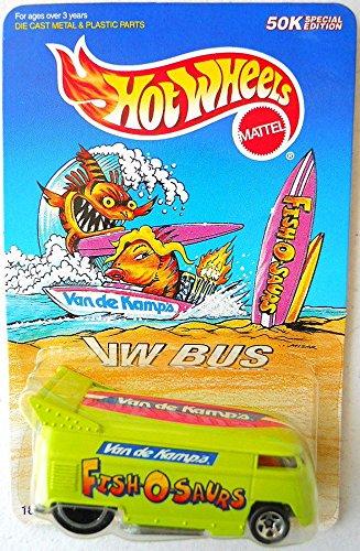 Hot Wheels Limited Edition Vw Drag Bus Van de Kamps Fish O' Saurs Scale 1/64