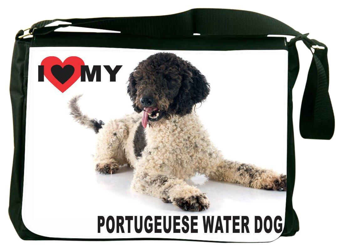 Rikki Knight I Love My Portuguese Water Dog Messenger Bag School Bag