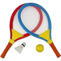 Akokie Tennisschläger Set, Badminton Racket Set, Strand Spielzeug für Kinder ab 3 Jahren