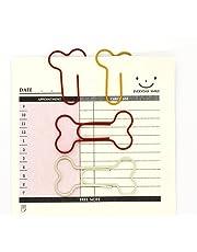 Creative Clips abrazaderas de papel con forma de hueso para oficina Escuela, colores surtidos,