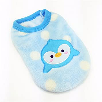 60ae8175b507 MD New Cartoon Teacup Dog Clothing Baby Pet Clothes Puppy Winter Warm Thick  Sweater ... (XXXS, Blue): Amazon.co.uk: Pet Supplies