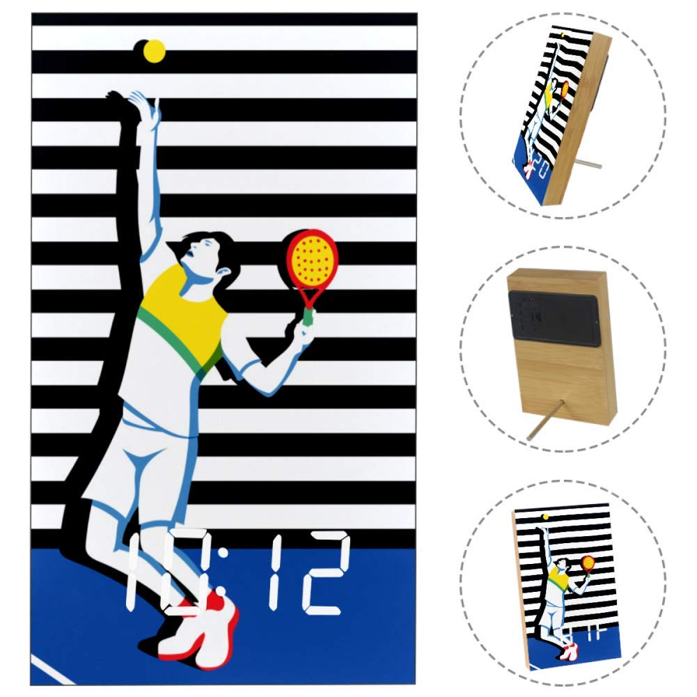 Amazon.com: TIKISMILE Young Padel Tennis Player Wooden ...