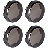 Amazicha 4 PCS Smoke Light Lens Covers for Harley 1989-2019 with FLAT Style Front Rear Turn Signals