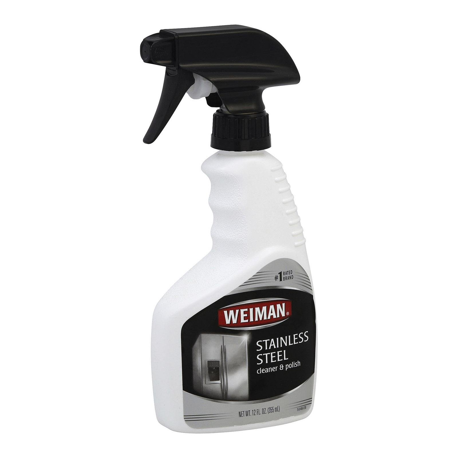 Weiman Stainless Steel Cleaner Spray, 12 Ounce - 6 per case.