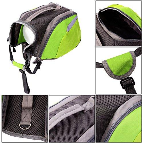 CutePaw Adjustable Dog Pack Backpack Saddlebag Harness Carrier Hound Daypack by CutePaw (Image #3)