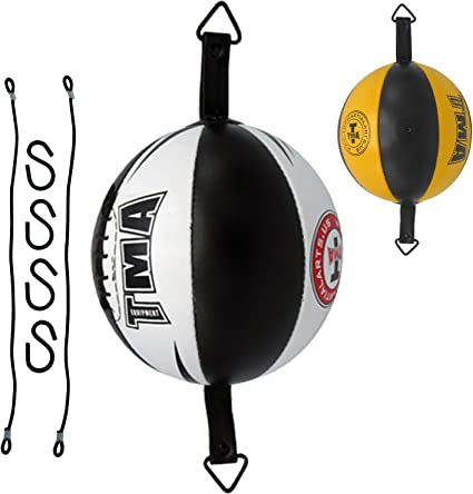 Genuine Leather Double End floor 2 Ceiling Speed Ball Boxing Punch bag speed bag