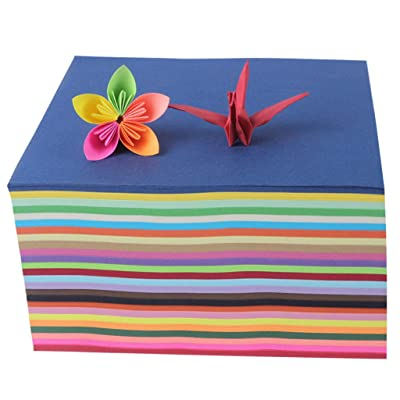 200 Pcs Construction Paper, with 25 Assorted Vivid Colors, Material, Non-Toxic and Eco-Friendly for Safety Use, Suitable for Crafts and Art Projects (8x8cm) [5Bkhe0200240]