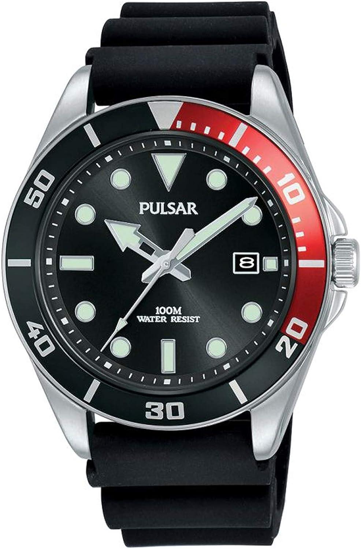 Pulsar Casual Reloj para Hombre Analógico de Cuarzo con Brazalete de Silicona PG8297X1