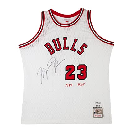 huge selection of bac09 5707e Michael Jordan Signed & Embroidered Chicago Bulls Mitchell ...