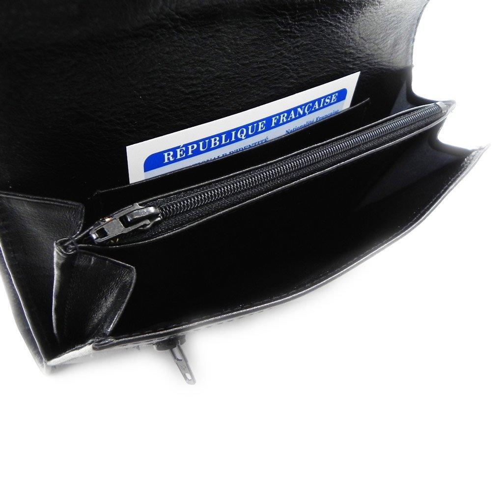 Wallet + checkbook holder leather 'Frandi' ecological york black. by Frandi (Image #9)