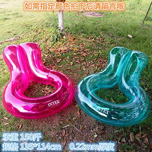 Red 135114cm Swimming Circle Bed Water seat Inflatable Toy