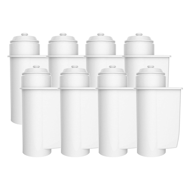 Aqua Crest AQK-01 Compatible Water Filters to fit Brita Intenza 00575491, 575491, 1010120, TZ7003, TCZ7003, 00575591, 00467873 Coffee Maker (8) EcoPure
