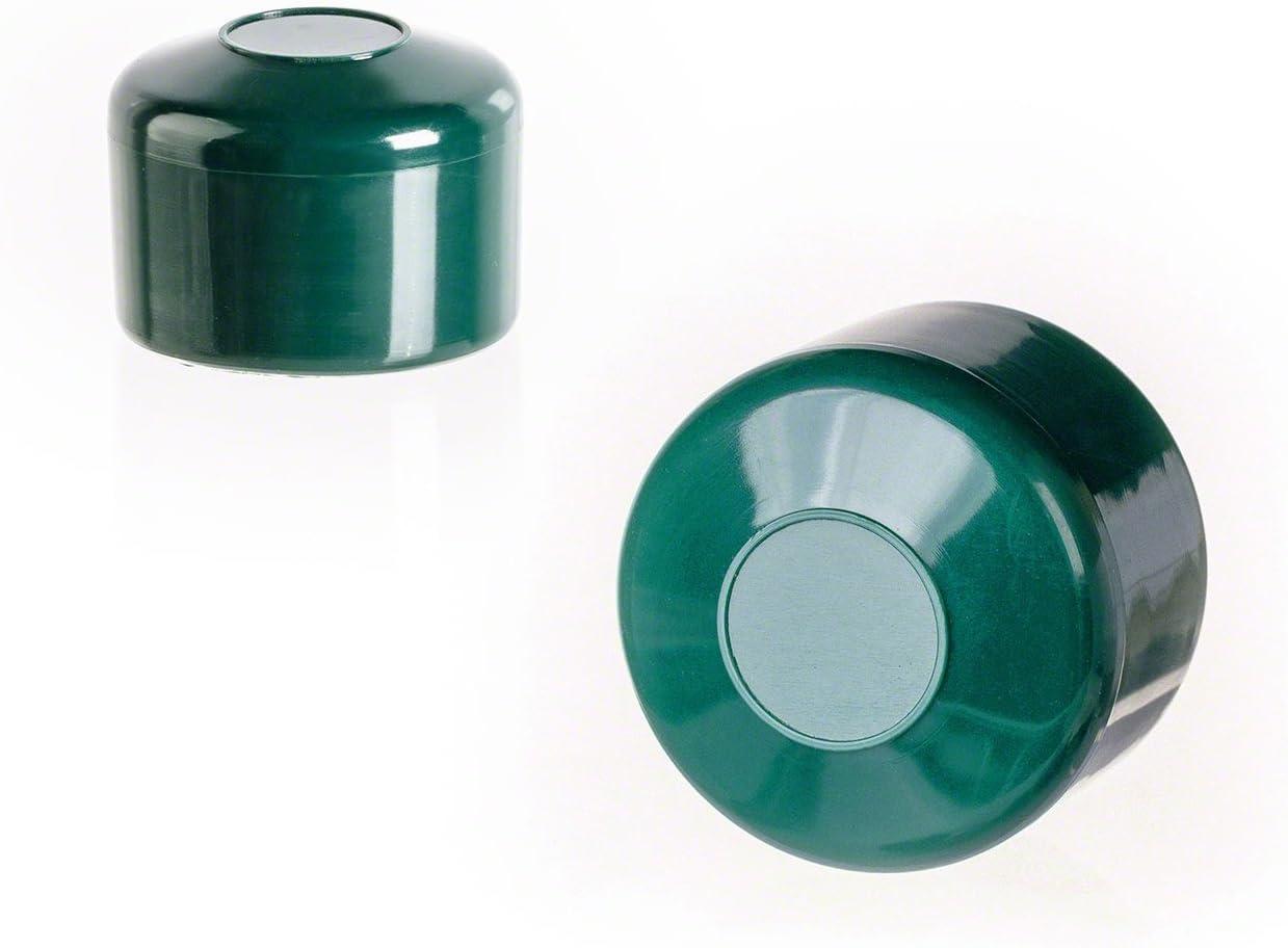 10 St/ück Zaunpfahlkappe rund 51 mm Grau Kunststoff Pfostenkappen Abdeckkappen
