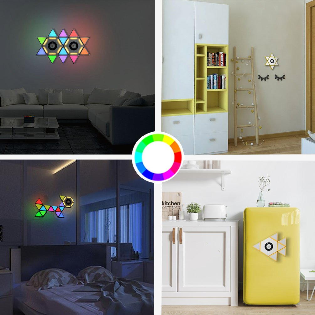 Bonitronic X1 Novelty DIY Lights with Magnetic Connected Lighting Building Blocks,Diverse Design Educational STEM Toy Brick Light for Home Decoration Atmosphere Kitchen Kids Bedroom Yellow