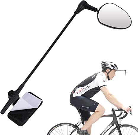 Bicycle Cycling Riding Mirror Helmet Mount Rearview Mirror Rear Eyeglass J6Q0