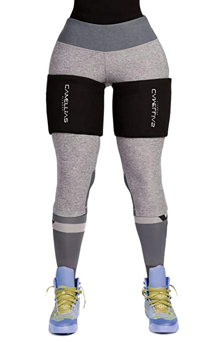 61bf246e104 SHAPERX Sweet Sweat Thigh Trimmers for Men   Women(2 Packs) -Leg Support