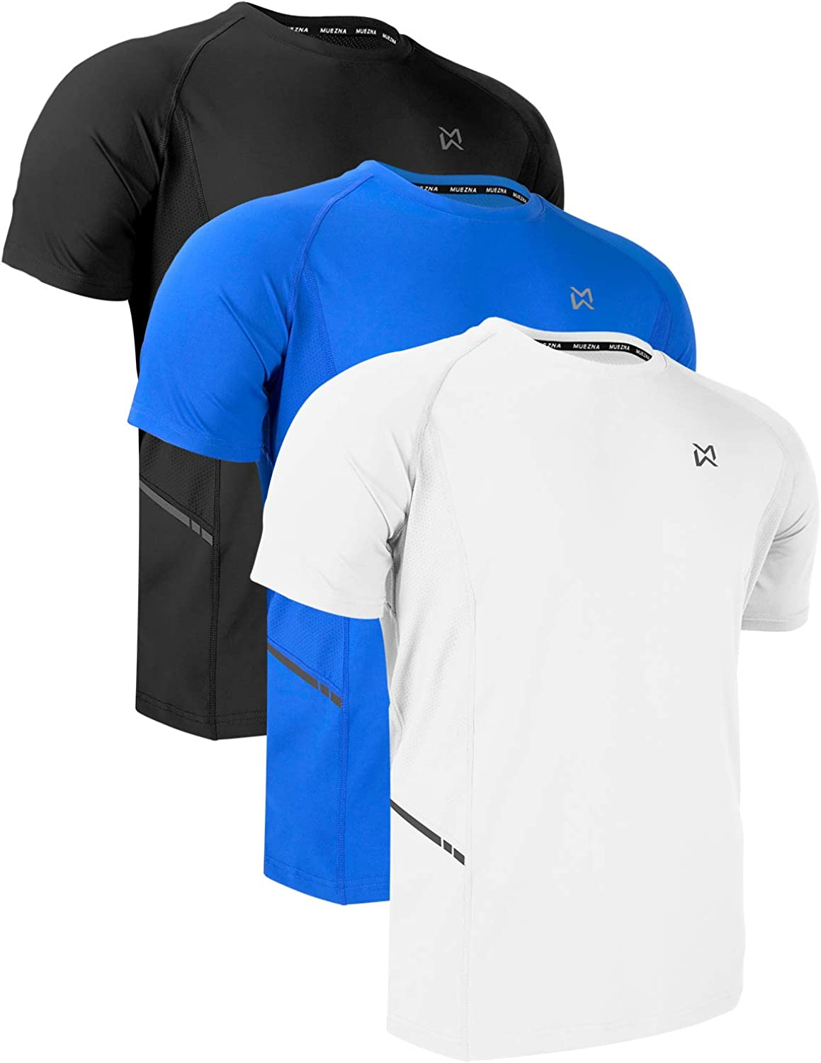 Men Dry-Fit Running Workout T-Shirt Short Sleeve Athletic Gym Training Tee for Men: Clothing