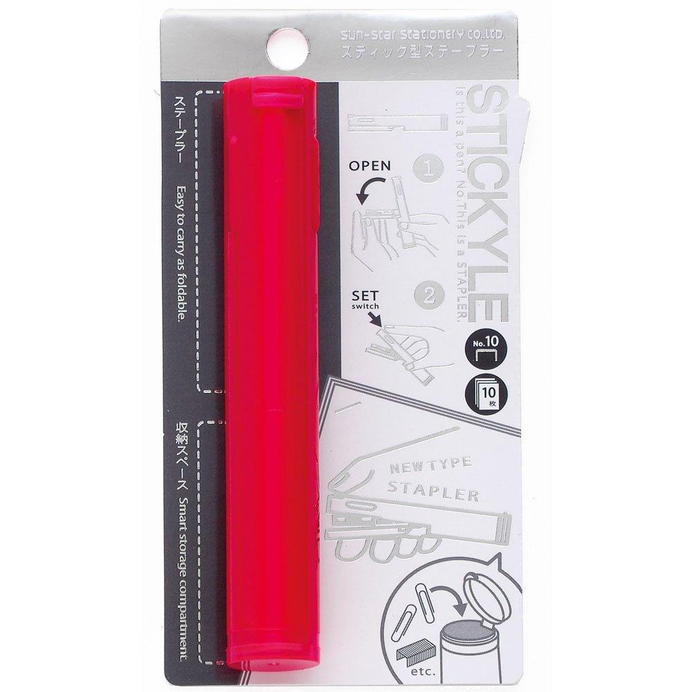 Sunstar Pen Type Stapler Stickyle, Shocking Pink (S4763246)