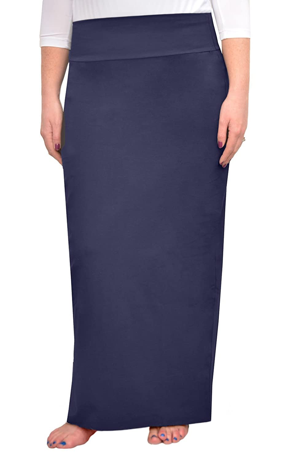 2826353b40 Kosher Casual Women's Modest Cotton Stretch Long Maxi Pencil Skirt at Amazon  Women's Clothing store:
