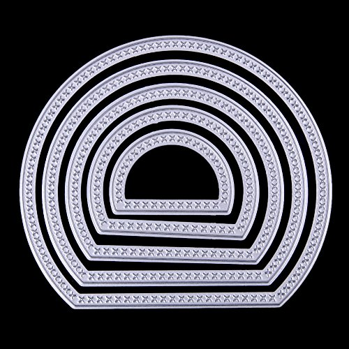 Metal Cutting Dies - 5 Pieces Semicircle/Moon Shape Card Maker Metal Die Cutting Dies For DIY Scrapbooking Photo Album Decorative Embossing Folder - Die Cuts for Card Making