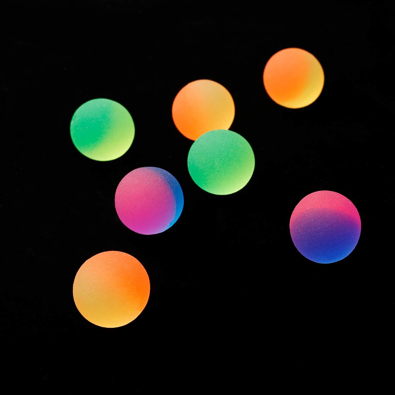 Pangda 32 Pieces ICY Ball Bouncy Balls Colorful Bouncing Balls Party Bag Filler 27mm Vibrant 2 Tone Color ICY Balls