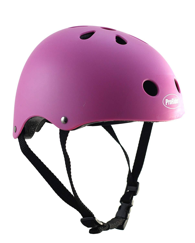 ProRider プロライダー クラシック 自転車&スケート用 ヘルメット B01M71ZMJW  マットピンク X-Small