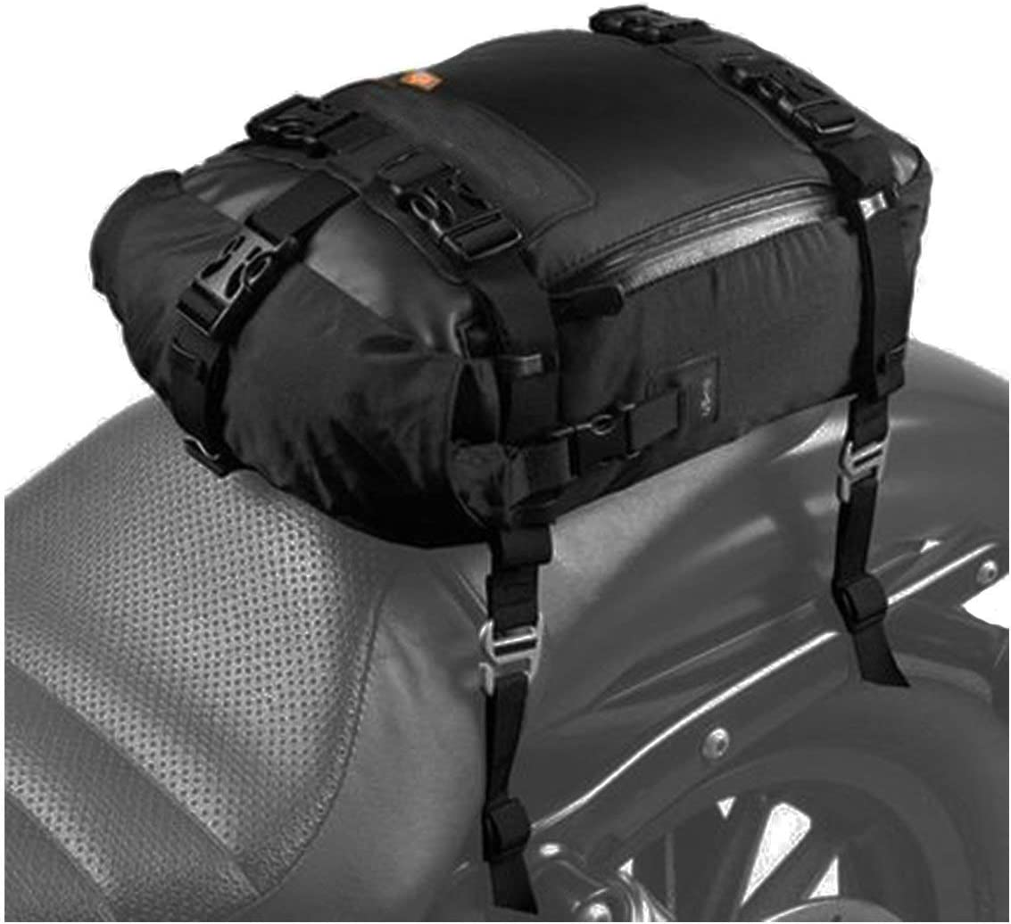 Motorcycle Seat Bag, SEEU Universal Motorcycle Tail Bag, Black, 20 Liters