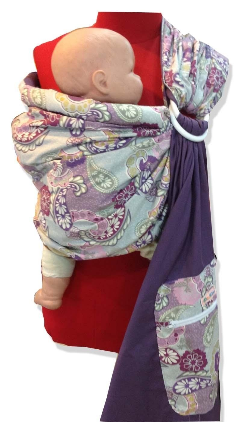 824f0352897 Amazon.com   Purple Paisley Baby Ring Sling   Baby Slings   Baby