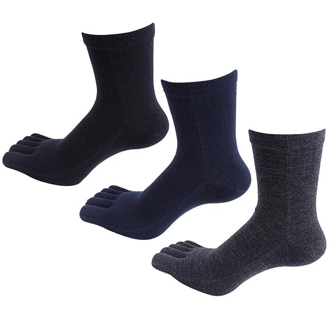 Panegy - (Pack de 5 pares) Calcetines de 5 Dedos Verano para Hombres Calcetines